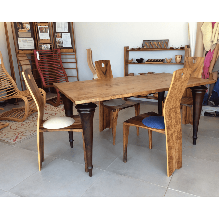Dining table in shop